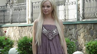 Blonde teen undressing Thumbnail