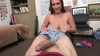 Skyler Luv loves to take his cock all the way to the back of her throat