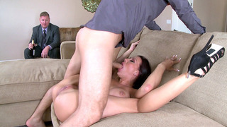 Rachel Starr making her husband to watch her get face-fucked and licked