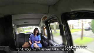 Chubby British nurse banged in fake taxi Thumbnail