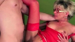 Granny in red stockings gets fucked pretty hard Thumbnail