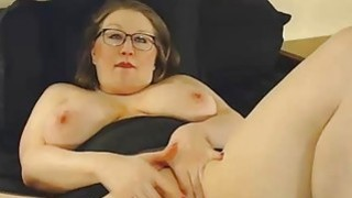 BBW squeezes together her tits Thumbnail
