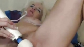 Amateur blonde granny undressing on cam Thumbnail