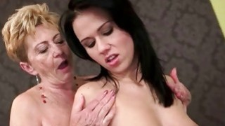 Hot granny love sexy young brunette Thumbnail