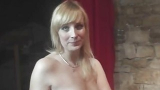 Fun with sexy MILF in backstage Thumbnail