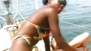 White studs fuck each others hot ebony girlfriends on board Thumbnail