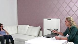 Lesbian female agent with amateur Thumbnail