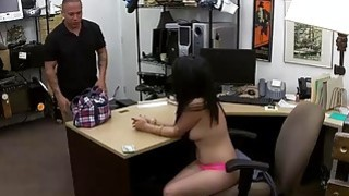 Nasty Cuban chick pounded by pawn keeper to earn money Thumbnail