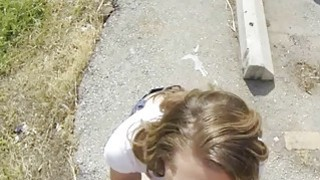 Quick fuck session with Brooklyn at railroad tracks Thumbnail