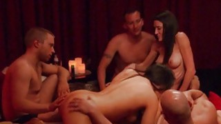 Group of swingers orgy in the red room Thumbnail