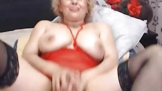 Hot Blonde Mature Fucks Pussy With Toy Thumbnail
