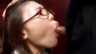 Boss Shoves Dick Deep Into Chick's Little Mouth And Makes Her Gag Thumbnail