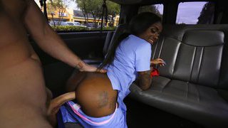 Picked up a hot ebony nurse on the road Thumbnail