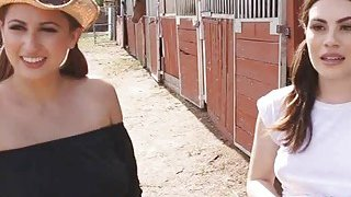 Cowgirl threesome at the ranch Thumbnail