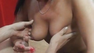 Mature bitch makes him jizz Thumbnail