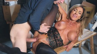 Big breasted mom Aubrey Black gets railed on the bench Thumbnail