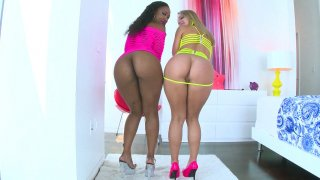 Chanell Heart and Candice Dare shows off their desirable asses Thumbnail