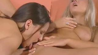 Carmen Luvana and her brunette friend lick each other's pussies Thumbnail