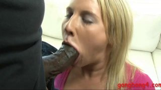 Blond babe double fucked by black dicks Thumbnail