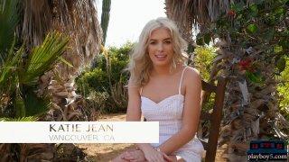 Petite blonde teen model hot outdoor striptease action Thumbnail
