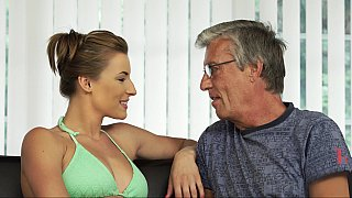 Teen swimmer seducing her BF's father Thumbnail