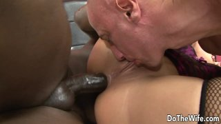 Wife Linda Ray Gets Black Cock in Her Ass and Feeds Cuck Hubby a Creampie Thumbnail