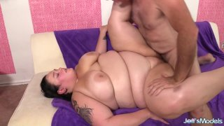 BBW Valhalla Lee Gets Eaten up and Pounded by a Horny Geezer Thumbnail