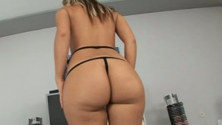 Bootylicious Candy shows off her round ass and pink pussy Thumbnail